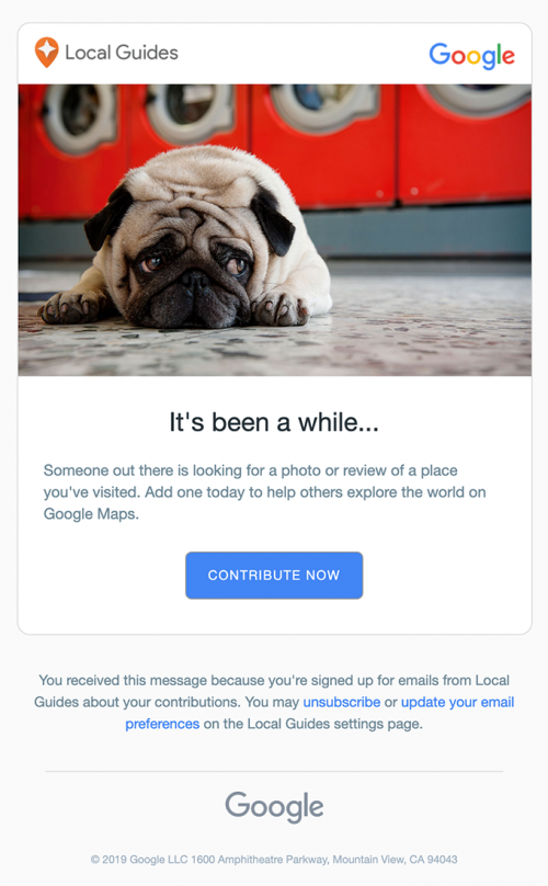 Google is activating passive Google Maps users with an email that encourages them to add a new photo or a review.