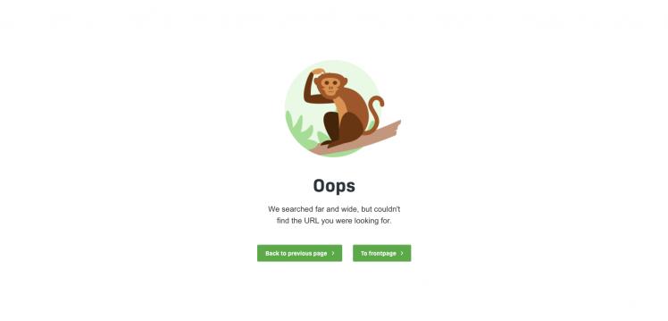 Image: 404 error page
