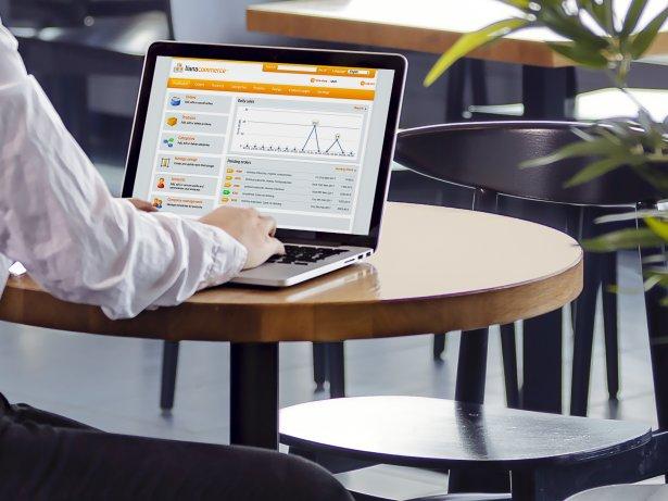 Lianas e-handelsplattforms gränssnitt