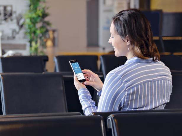 Liana marketing automation på mobilenhet