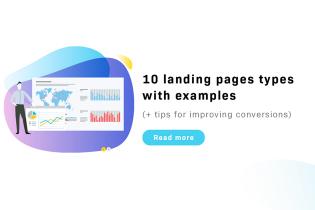 10 typer av landningssidor med exempel (+ tips för att förbättra konverteringar)